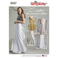 Special Occasion Skirts. Simplicity 8597.