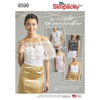 Special Occasion Tops. Simplicity 8598.