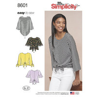 Pullover Tops. Simplicity 8601.