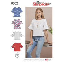 Tops in two lengths. Simplicity 8602.