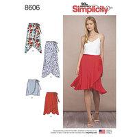 Wrap Skirt in Four Lengths. Simplicity 8606.