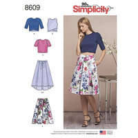 Skirts and Knit Tops. Simplicity 8609.