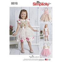 Toddlers Dress and Apron Tutu. Simplicity 8616.