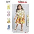 Simplicity 8618. Childs Dresses.