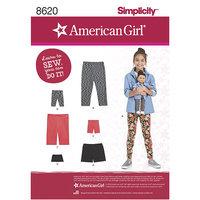 American Girl and doll leggings. Simplicity 8620.