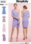 Simplicity 8638. Women's Easy to Sew Knit Dresses.