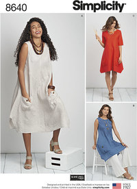 Women's / Plus Size Dress or Tunic. Simplicity 8640.