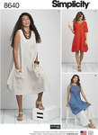 Women's / Plus Size loose fitting dress by designer Elaine Heigl. Features handkerchief design with length variations. Elaine Heigl for Simplicity.