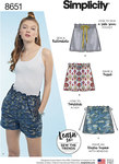Simplicity 8651. Learn to Sew Pull on Shorts.
