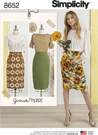 Women's Skirts. Simplicity 8652.
