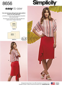 Simplicity 8656. Women's Knit Skirt and Top.