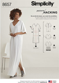 Women's Caftan  with Options for Design Hacking. Simplicity 8657.