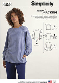 Women's Top  with Options for Design Hacking. Simplicity 8658.