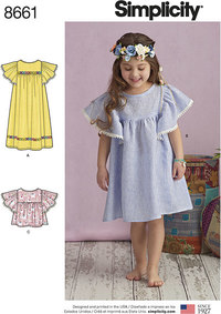 Child´s Dresses or Top. Simplicity 8661.