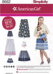 Simplicity 8662. Dresses for girls and dolls.