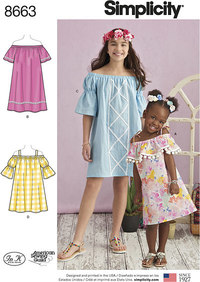 Child´s and Girls´ Dress. Simplicity 8663.