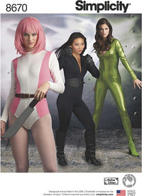 Simplicity 8670. Knit cosplay costume.