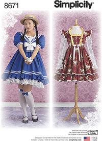 Women's Lolita Costume Dresses. Simplicity 8671.