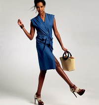 Petite Dress and Belt. Vogue 8810.