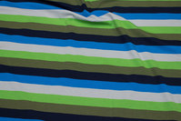Across-striped cotton-jersey with 2 cm wide stripes