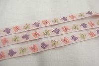 Baby pink ribbon butterflies 1 cm