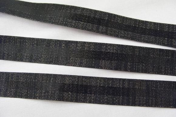 Black ribbon with shine 2,6cm