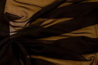 Chiffon polyester in black