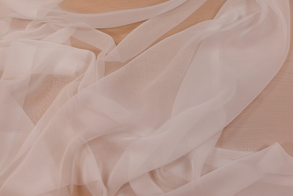 Chiffon polyester in white