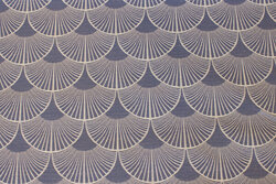 Coated textile-table-cloth in dove-blue