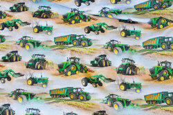 Cotton-jersey with green tractors