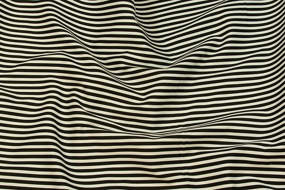 Cotton twill with black and white 5 mm stripes