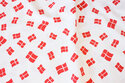 Danish flags, cotton and polyester