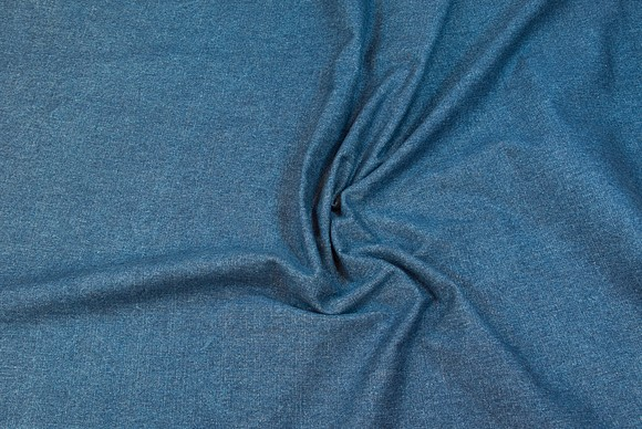 Denim fabric in medium blue