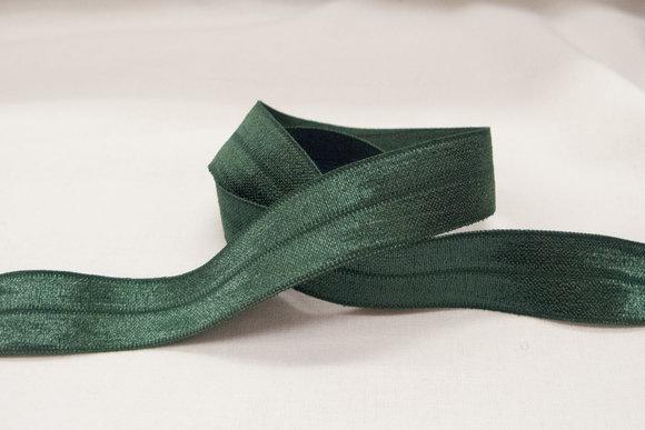 Elastic bias drape in dark green 2cm