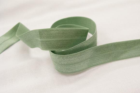 Elastic bias drape dusty mint green 2cm