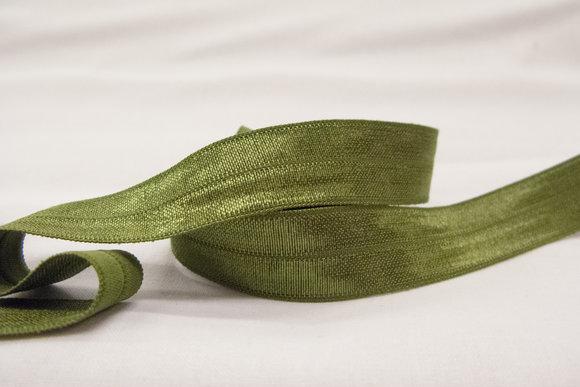 Elastic bias drape moss green 2cm