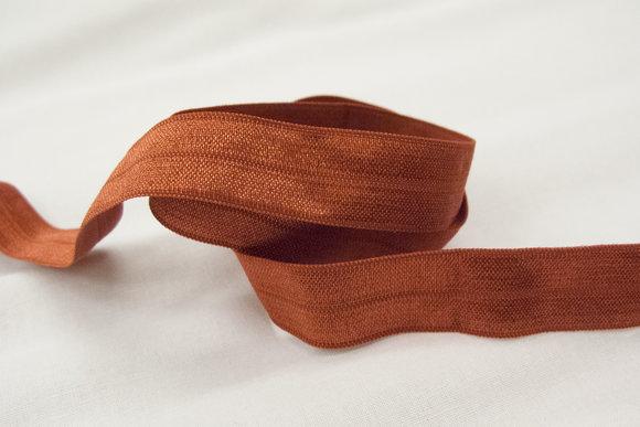 Elastic bias drape rusty 2cm