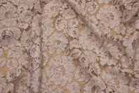 Elegant dress-lace-fabric in batique-powder-colored