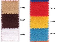 Fleece in many colors ie. brown, red, yellow, turqoise
