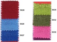 Fleece in many colors ie. red, blue, green, pink