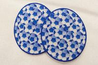 Football patches 2pcs 7.5 x 8.5 cm