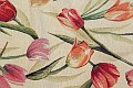 Classic and modern design combinedon this fabric.The tulips are ca. 20-30 cm. long.30% polyester, 58% cotton, 10% acryllix.