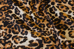 Heavyjersey with animal-print and black back