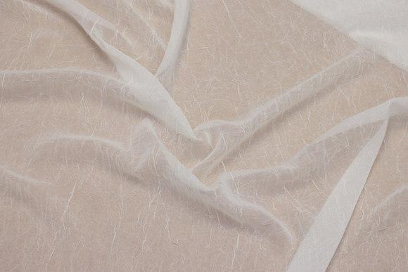 Off white crinkle-chiffon, slightly transparent