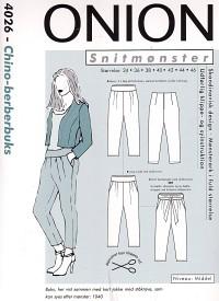 Chino-berber pants. Onion 4026.