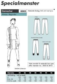 Onion pattern: Stretch pants