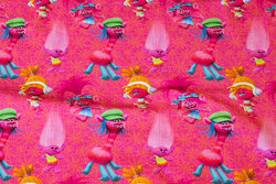 Pink cotton-jersey with trolls