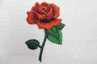 Rose patch 13 x 8 cm