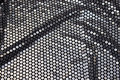 Stretch-sequins-fabric in black with big sewn-on aluminiumsfarvede sequins