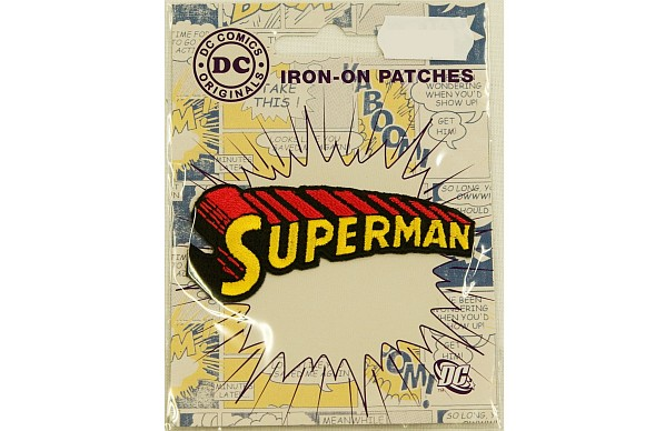 Superman tekst-logo ironing patch